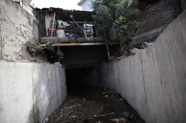 "A drain exit which leads to a tunnel underneath one of the houses of Joaquin ""Chapo""Guzman is seen in a neighborhood in Culiacan"