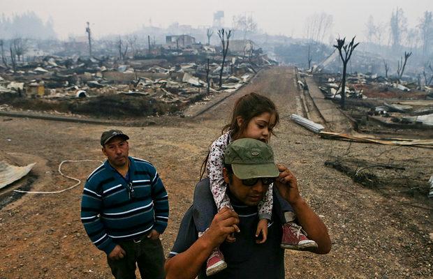 пожар в Чили_7