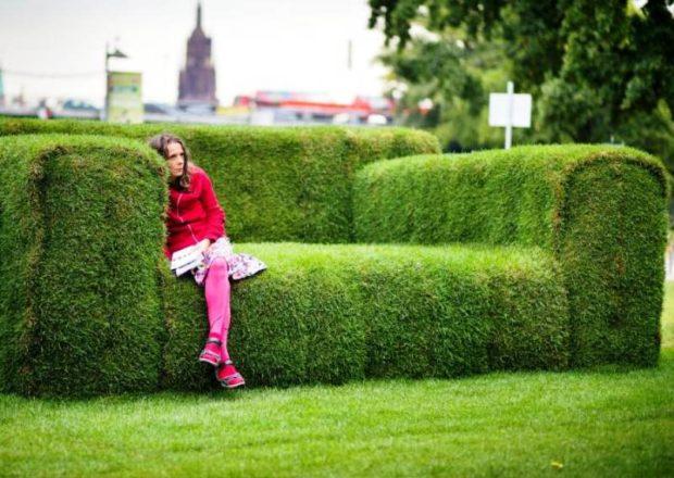 диванчик из травы