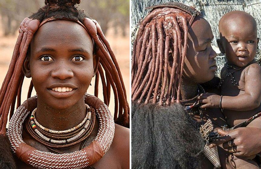 Неймовірні зачіски і макіяж дівчат з племені хімба
