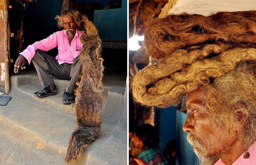 40 років житель Індії Не будете стригти волосся і не мив волосся