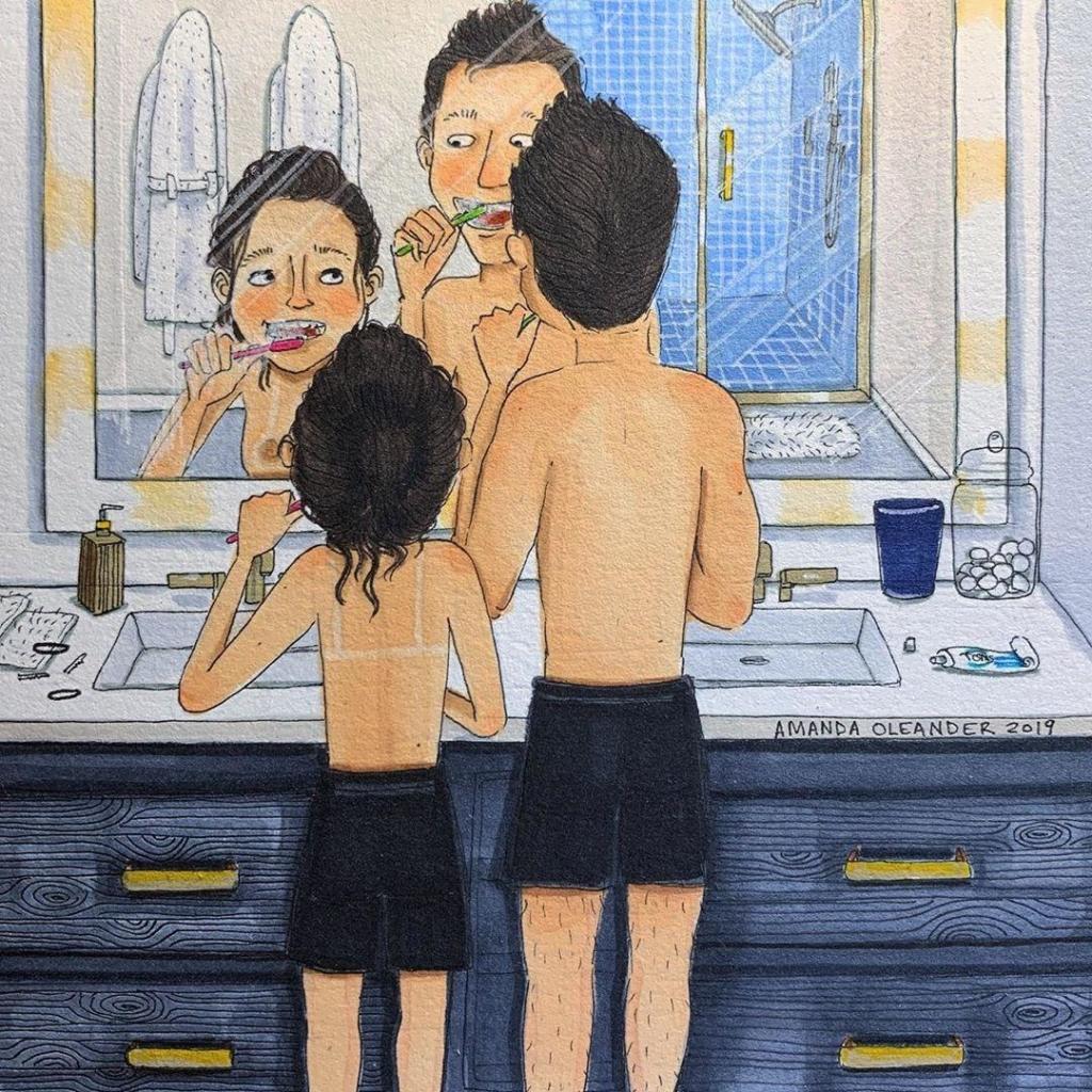 25 честных иллюстраций о том, как ведут себя влюблённые парочки, когда их никто не видит Любовь,иллюстрации