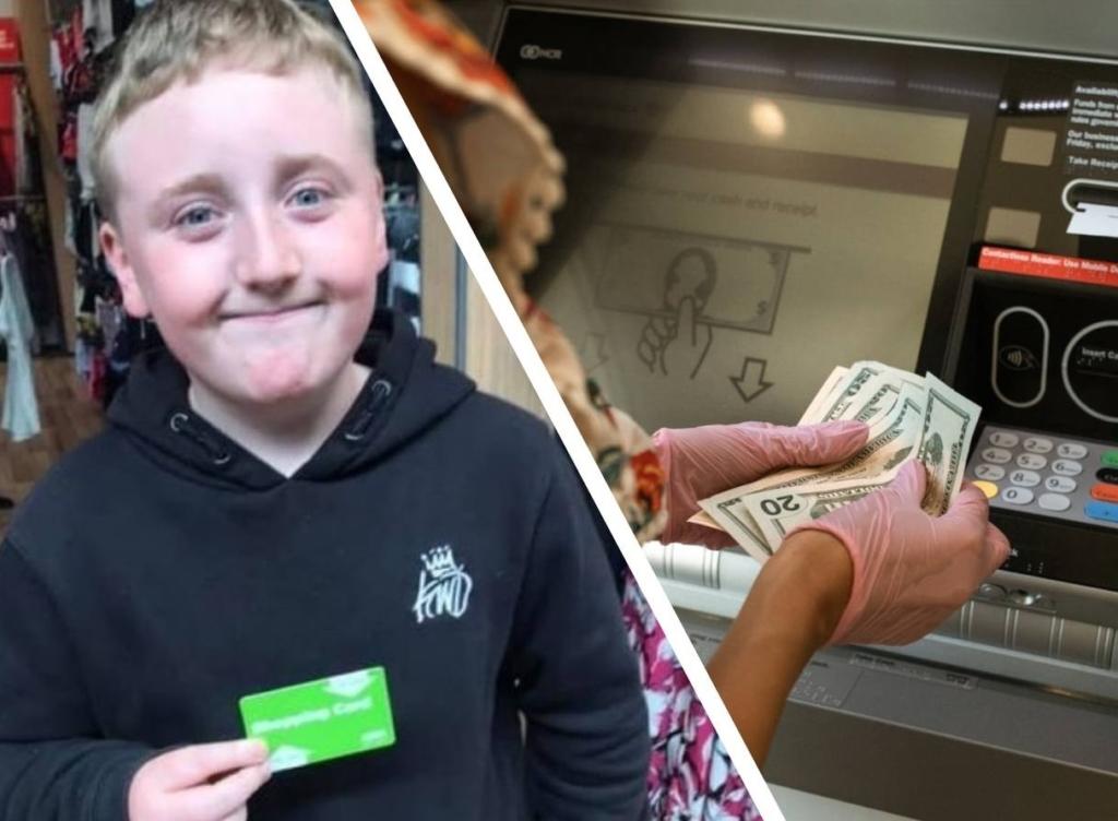 Мальчик нажал пару клавиш на банкомате и получил 40 000 рублей, а мама не сдержала слез, когда узнала, что он с ними сделал