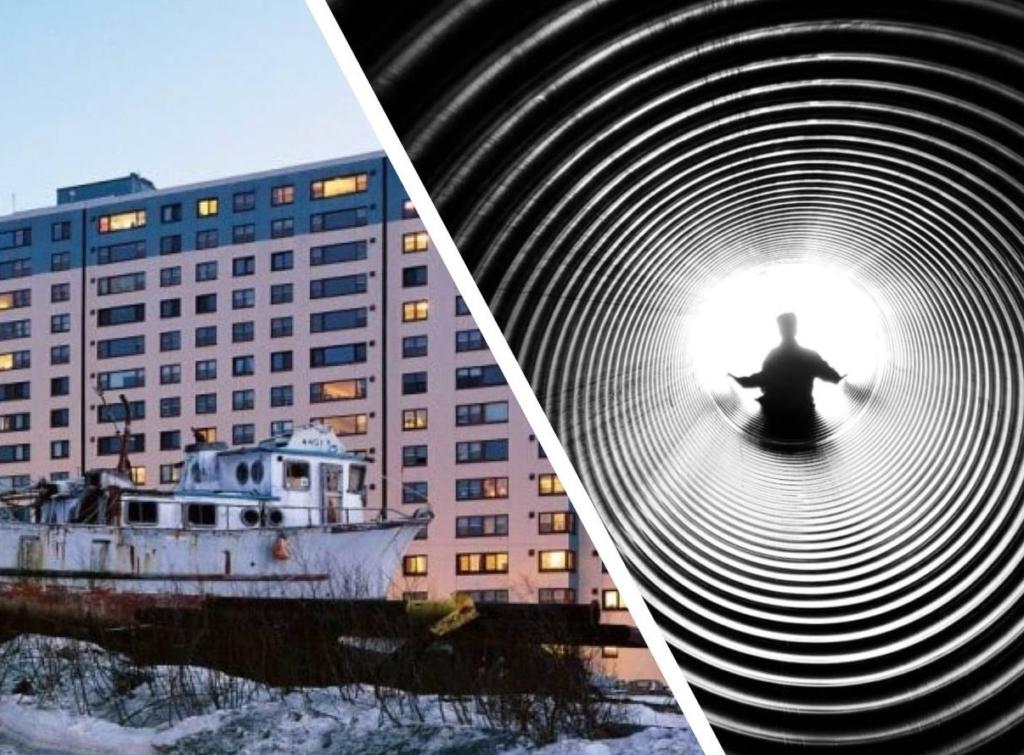 В этом городе все жители уже 57 лет живут в одном доме, а добираются на работу через тоннель