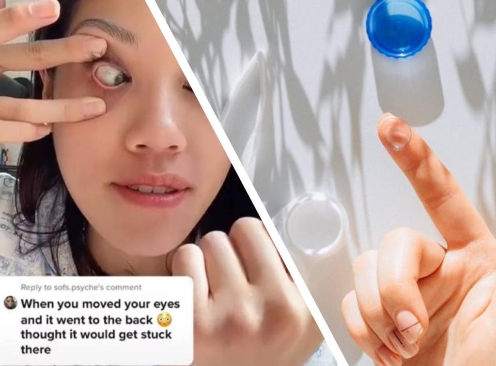 Девушка сняла линзы без рук и разделила мир людей с плохим зрением на до и после