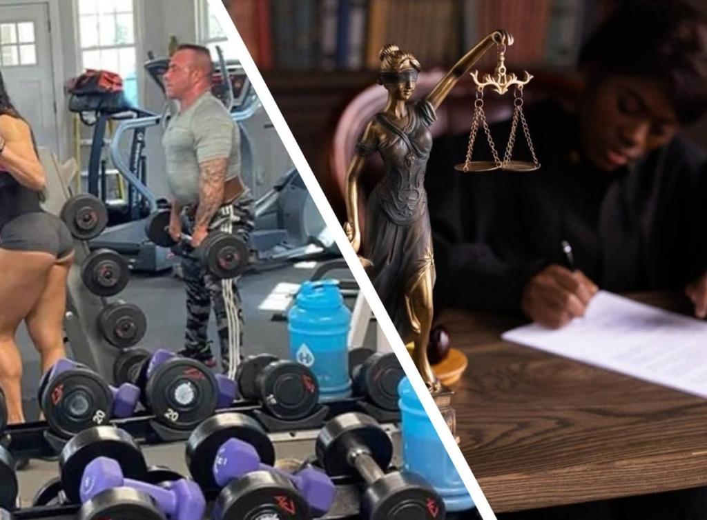 Жена разметила в сети это фото мужа в спортзале и его арестовали, теперь он должен отдать 200 000 долларов — и все дело в мускулах