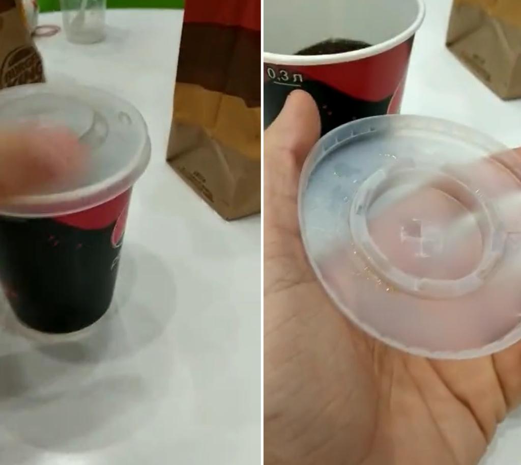 Блогер показал зачем по-настоящему нужна крышка от стаканчика и это новый лайфхак Еда,крышка,лайфхак