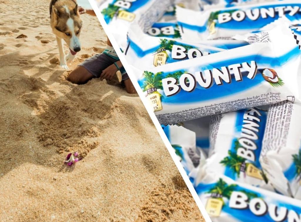 Мужчина нашел на пляже «Баунти», который пролежал в песке 30 лет — дизайн из прошлого и сохранность повергла его в шок