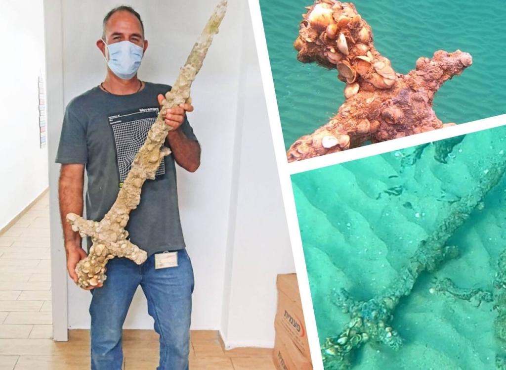 Уникальная находка обнаружена у берегов Израиля: меч крестоносца которому больше 900 лет