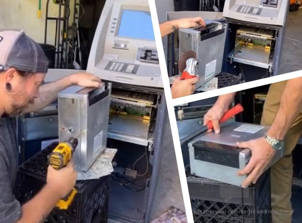 Мужчины купили старый банкомат и решили вскрыть его, а то что было внутри окупило их покупку в 6 раз Разное,банкомат,деньги